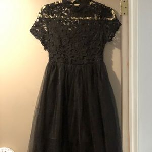 Shein Black tulle and lace dress